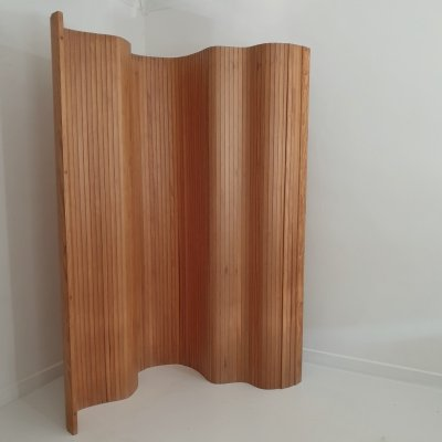 Pine Tambour Room Divider / Screen by Habitat, c.1980