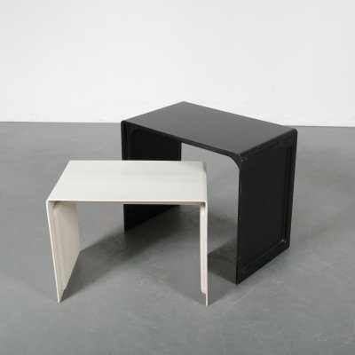 Pair of modern nesting tables by Dieter Rams for Vistoe, 1960s