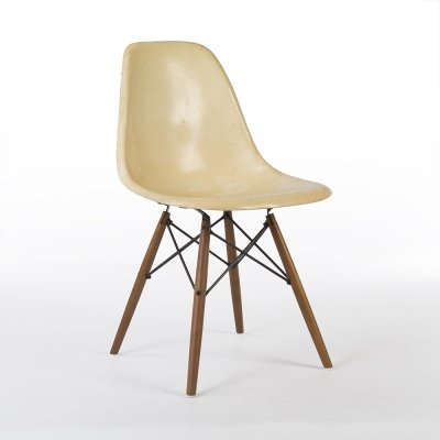 Parchment White Herman Miller Eames DSW side chair