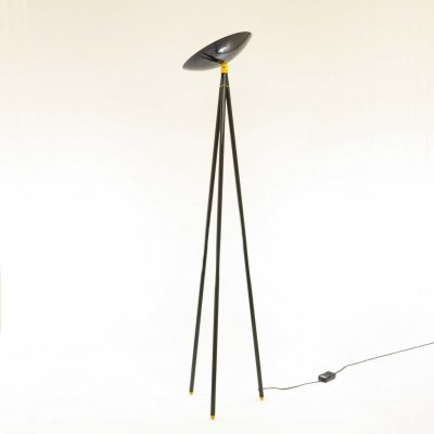 Black Palomar Floor Lamp by Shigeaki Asahara for Stilnovo, 1980s