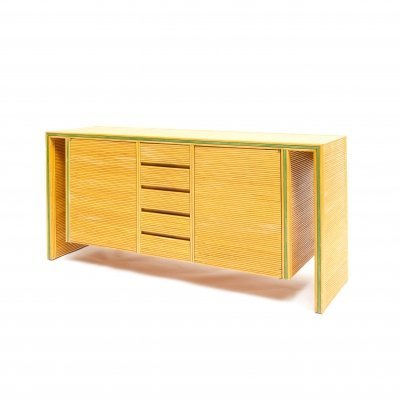 Two-door bamboo cabinet or credenza