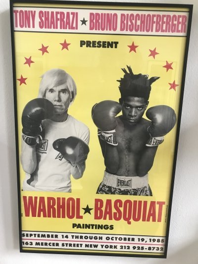 Exhibition poster by Andy Warhol & Jean-Michel Basquiat for Tony Shafrazi Gallery, 1980s