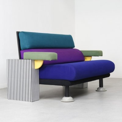 Postmodern 'Lido' sofa by Michele de Lucchi for Memphis Milano, Italy 1982