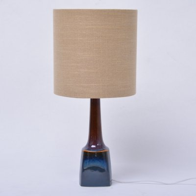 Blue Mid-Century ceramic table lamps model 941 by Soholm