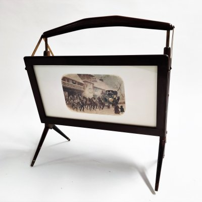 Mid centuury magazine rack by Ico Parisi, 1950s