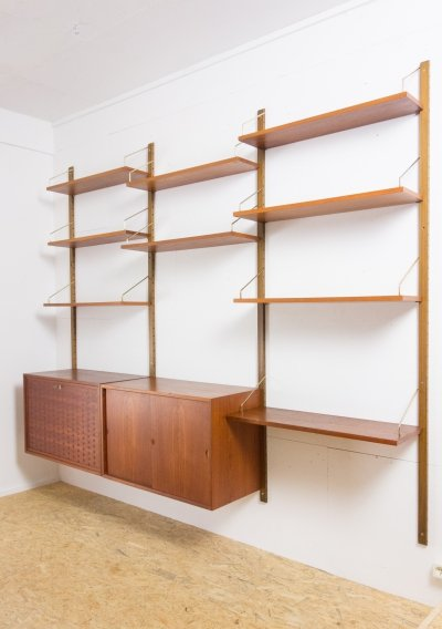 Teak wall unit by Poul Cadovius