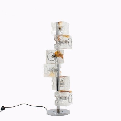 Murano glass floor lamp by Toni Zuccheri for VeArt, 1960s