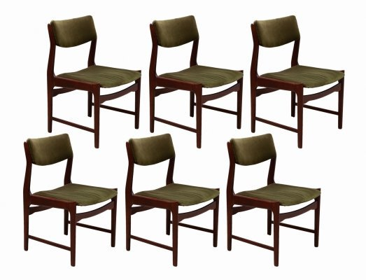 Set of 6 Dining Chairs by De Coene, Belgium 1970s