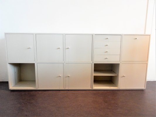 14 piece 'Q-bus' modular cabinet system by Cees Braakman for Pastoe, 1960's