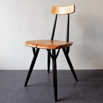 Pirkka dining chair by Ilmari Tapiovaara for Laukaan Puu Finnland, 1960s
