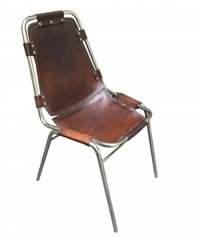 Leather 'Les Arcs' Chair by Charlotte Perriand, 1970s