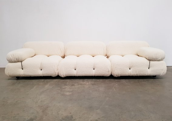 Bouclé fabric Camaleonda sofa by Mario Bellini for B&B Italia, 1970s