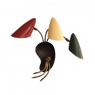 Tricolor Organic Sconce, 1950s