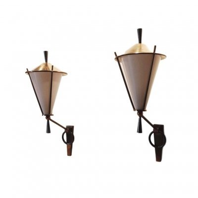 2x Maison Lunel Bicolored Brass Sconces