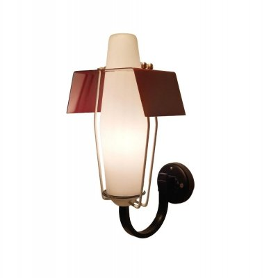 Modernist Red Wing Wall Sconce