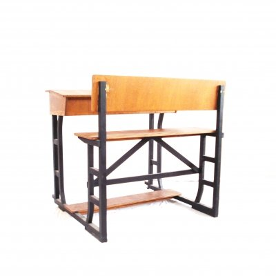 Large vintage writing desk / old school desk