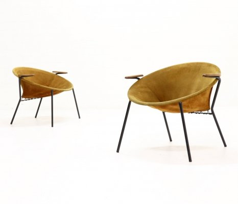 Set of 2 Hans Olsen Balloon Chairs for Lea Denmark, 1960s