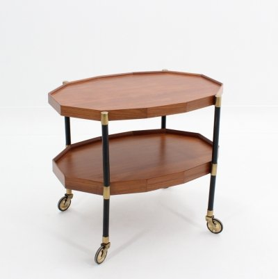 Italian double shelf serving trolley by Bergonzi, 1950s