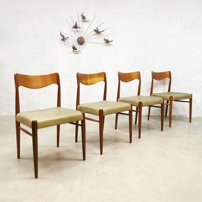 Set of 4 vintage dining chairs, 1950s