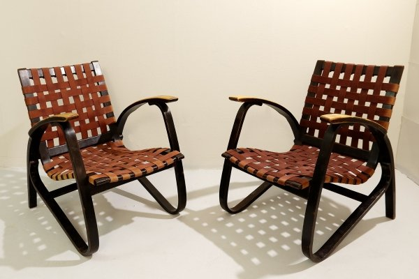 Pair Of Bentwood Armchairs By Jan Vaněk For UP Závody, 1930s