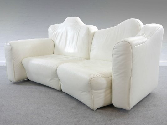 White Leather Cannaregio Modular Sofa by Gaetano Pesce for Cassina, 1980s