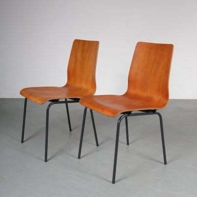 'Euroika' chairs by Friso Kramer for Auping, the Netherlands 1950s