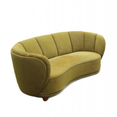 Curved Banana Sofa, 1940s