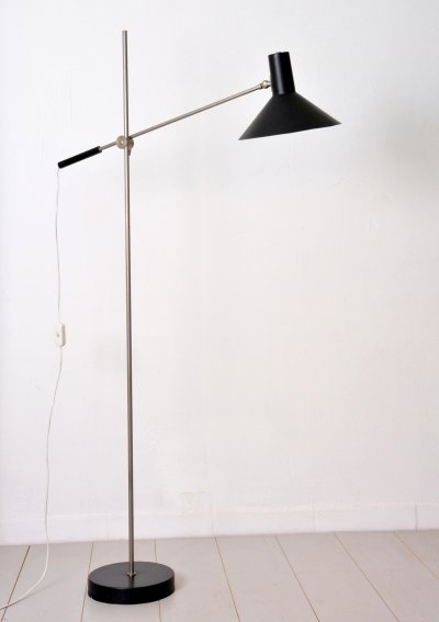 Floor lamp by J. Hoogervorst for Anvia Almelo, 1960s