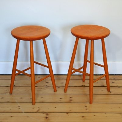 Pair of Vintage Stools by Hagafors, 1980s