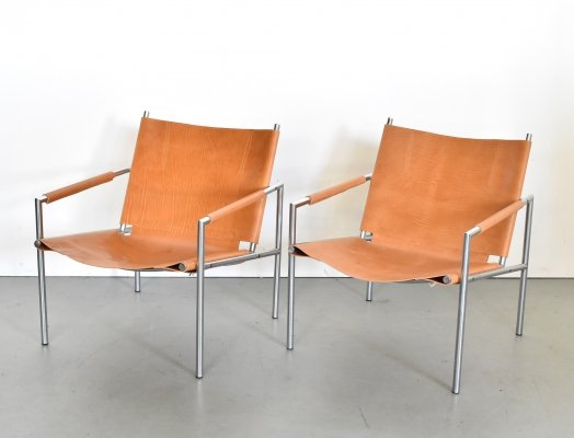 2 x SZ02 lounge chair by Martin Visser for Spectrum, 1970s