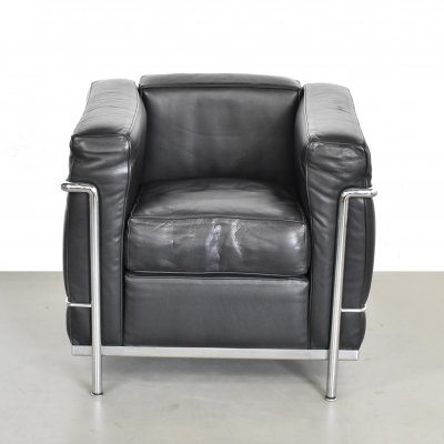 LC2 lounge chair by Le Corbusier & Pierre Jeanneret for Cassina, 1990s