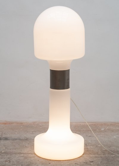 Opal Glass Mushroom Floorlamp by Carlo Nason for Mazzega Murano, Italy 1963