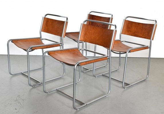 Set of 4 SE18 dining chairs by Claire Bataille & Paul Ibens for Spectrum, 1970s