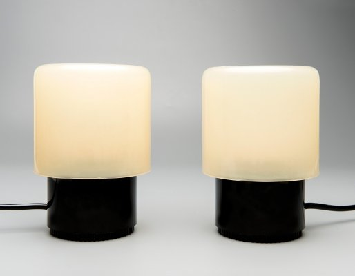 Pair of KD32 or TicTac desk lamps by Giotto Stoppino for Kartell, 1970s