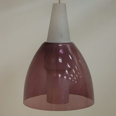 Rare glass hanging lamp by Holm Sørensen for Raak Amsterdam, 1950s