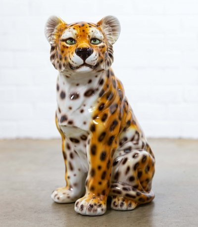 Ceramic Leopard, made in Italy