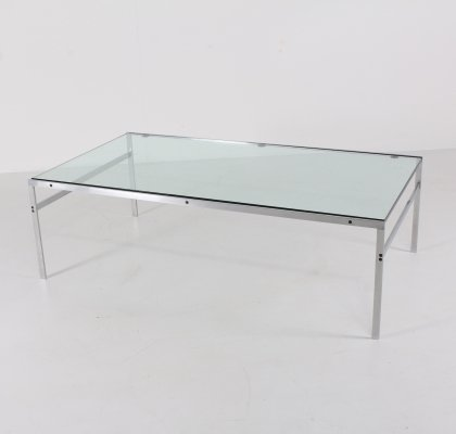 Preben Fabricius & Jorgen Kastholm BO 551 brushed steel coffee table
