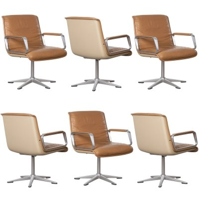 6 x Program 2000 arm chair by Delta Design for Wilkhahn, 1960s