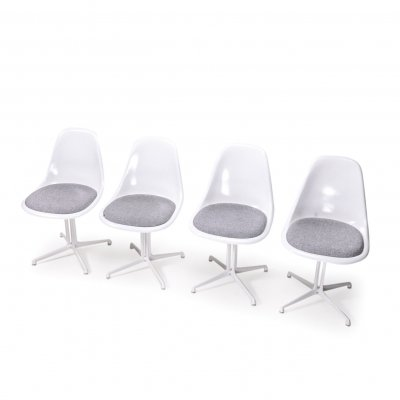 Set of 4 Vintage Eames Side Chairs with La Fonda Base, 1970s