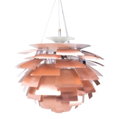 PH Artichoke Ceiling Lamp in Copper by Poul Henningsen for Louis Poulsen