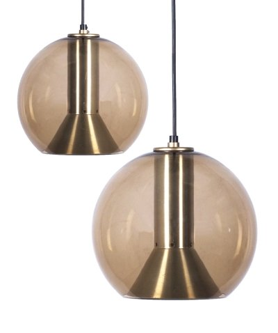 2 x Globe hanging lamp by Frank Ligtelijn for Raak Amsterdam, 1960s