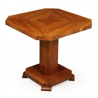 Art Deco Walnut Coffee / Cocktail Table, c1930
