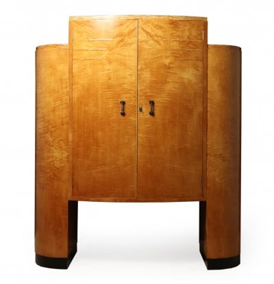 Art Deco Cocktail Cabinet in Sycamore, c1930