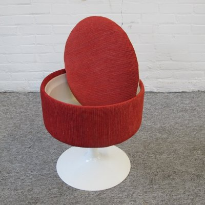 Space Age Swivel Stool box with Tulip Foot, 1960s