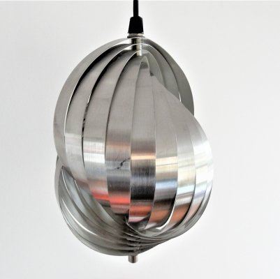 Spiral kinetics pendant lamp by Henri Mathieu