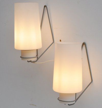 3 x NX54 wall lamp by Louis Kalff for Philips, 1960s