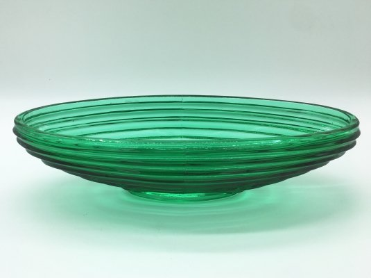 Elegant Green Glass Centerpiece, 1940's