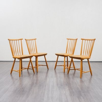 Set of four midcentury dining chairs by Arno Lambrecht for WK Möbel