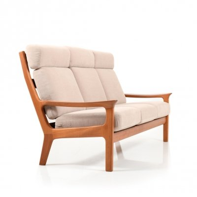 Danish teak Highback 3-Seater Sofa by Jens-Juul Kristensen for Glostrup Møbler