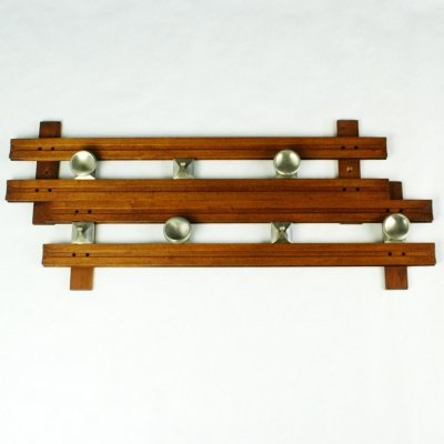 Italian Midcentury Teak Coat Rack Mod 1802 by Ico Parisi for Stildomus